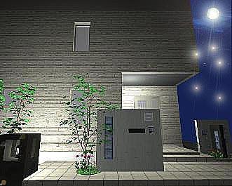 エントランス・・夜の景色