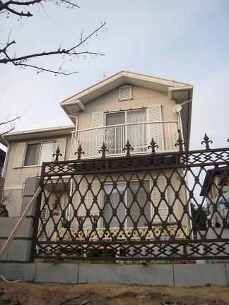 アイアン製のフェンス