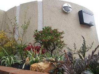 門柱を飾る植物