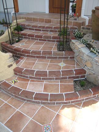 階段アプローチの風景