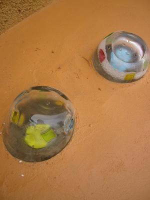 ガラス細工の小瓶