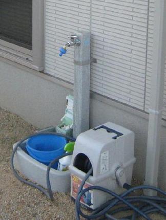 ビフォー「以前の立水栓」