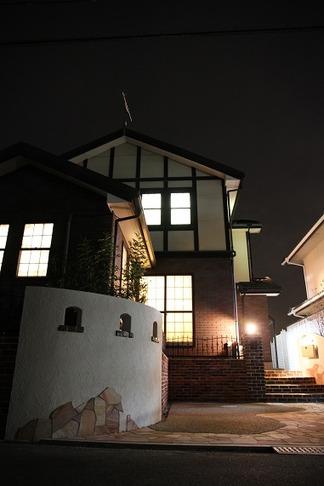 外構工事完成「夜の景色」