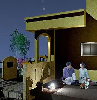 完成イメージ図「夜のデッキ」