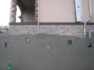 曲線壁を描きます