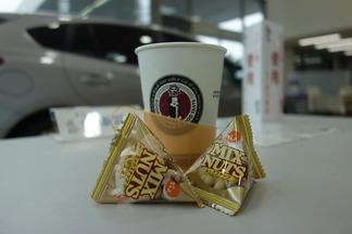 ミックスナッツとコーヒー