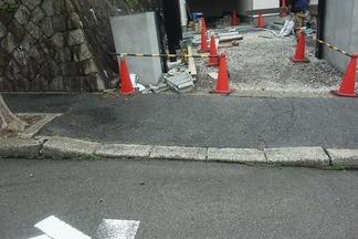 歩道切り下げ工事