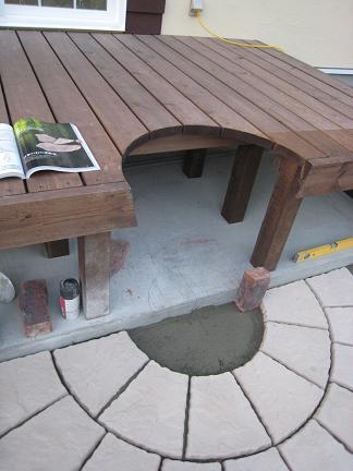 バーベキュー台を組み込みます!