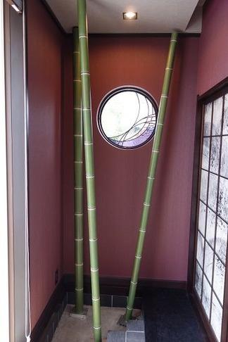 人工竹の設置前の風景