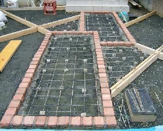 土間コンクリート下地作成