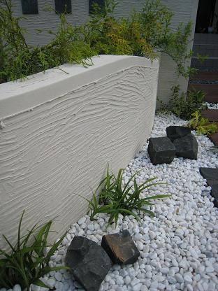 ピンコロ石で描く庭