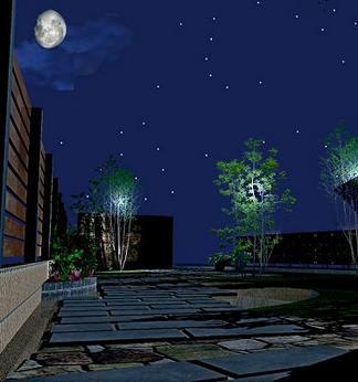 完成イメージ図「夜のアプローチ」