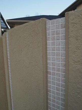 塗壁とタイルの造作