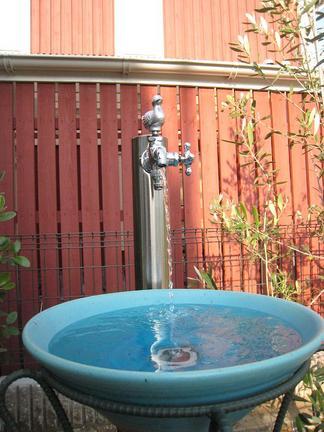 ステンレス製の立水栓