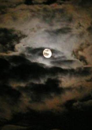 幻想的な月・・・