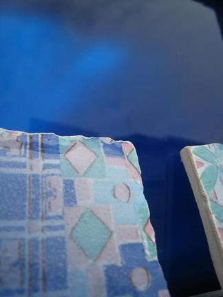 ブルーの色で描きます