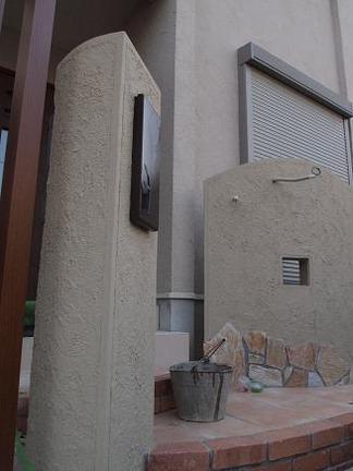 塗り壁仕上げの塀