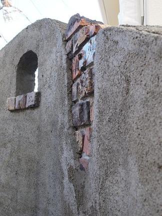 アンティーク感に溢れた壁