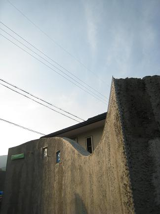 門柱の曲線造作