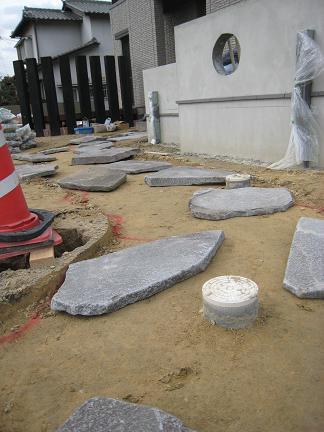 アプリーチの石畳「作成中」