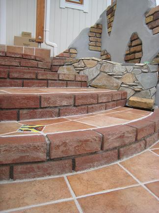壺置き場の背面壁