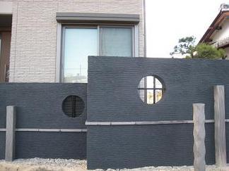 和室前の創作壁