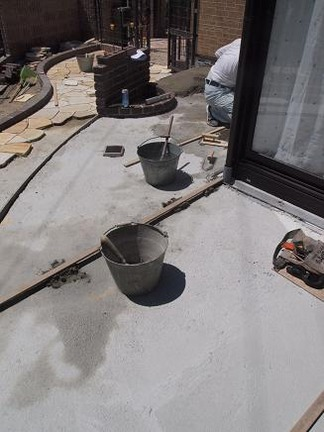 ガーデンテラス施工中