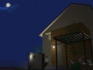 夜のエントランス