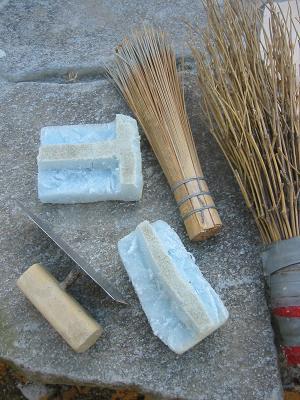 模様細工の道具たち