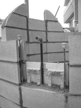 蛇口取付の壁