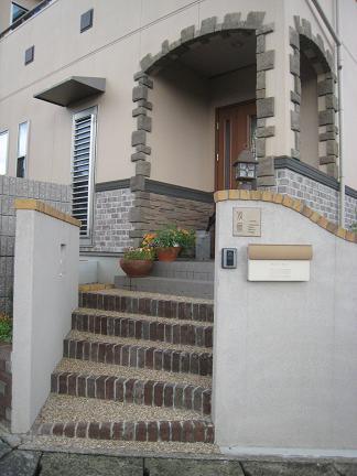 門柱「施工前」
