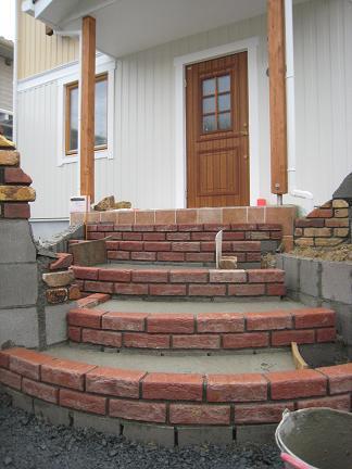 レンガ積みの階段
