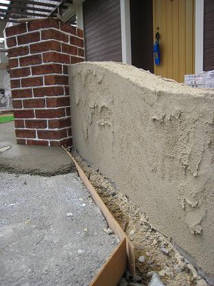 塗壁仕上げの塀