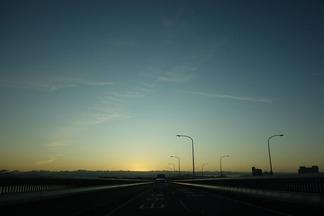 琵琶湖 日の出