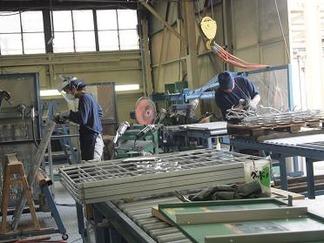 アルミ鋳物製品制作中