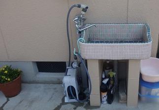 水栓「シンク」施工前