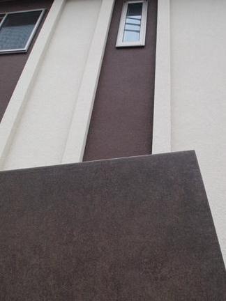 門柱に貼るブラウンタイル