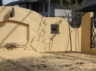 アンティークな壁の景色