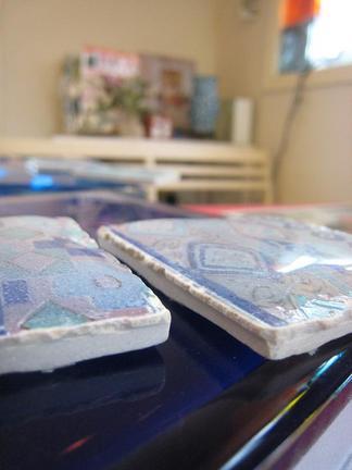 タイル表面のガラス釉