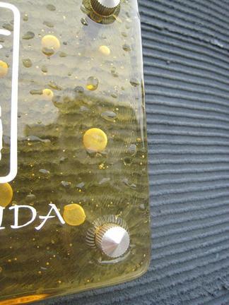 琉球ガラスの表札