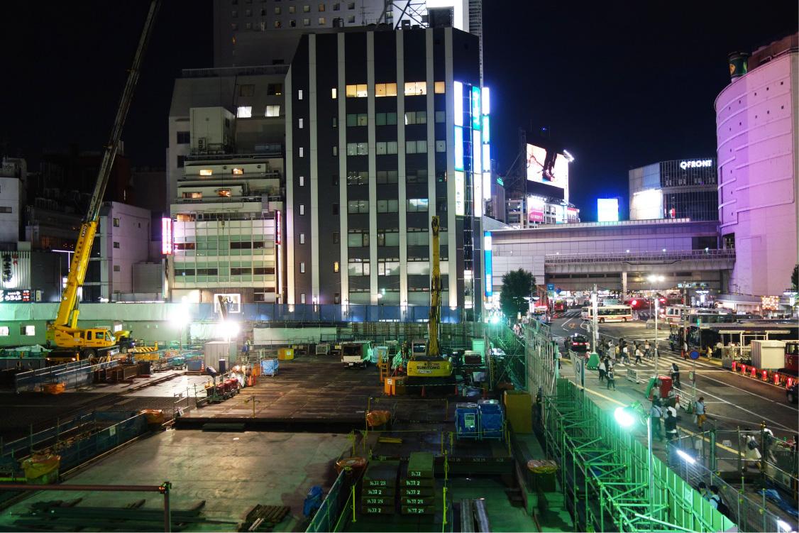 渋谷の再開発現場(撮影:中野龍三)。
