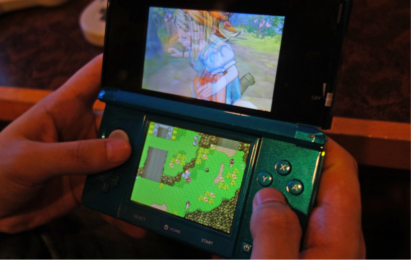 3DSのドラクエ11(撮影:中野龍三)。