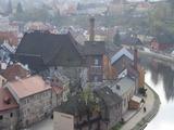 チェコのチェスキークルムロフ旧市街の建築