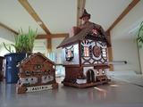 クリスマスマーケットシックな陶器でできた家