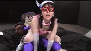 悪の組織に捕らえられてしまった美少女戦士の末路マジイキ連発でアクメ堕ち