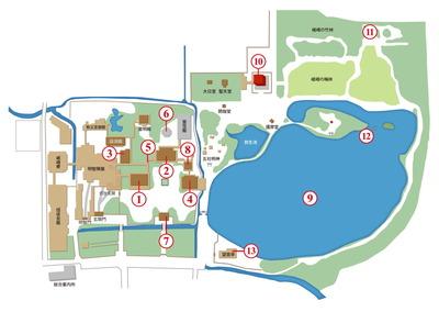 大覚寺 境内マップ