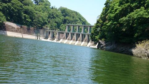 ダムサイト遠景
