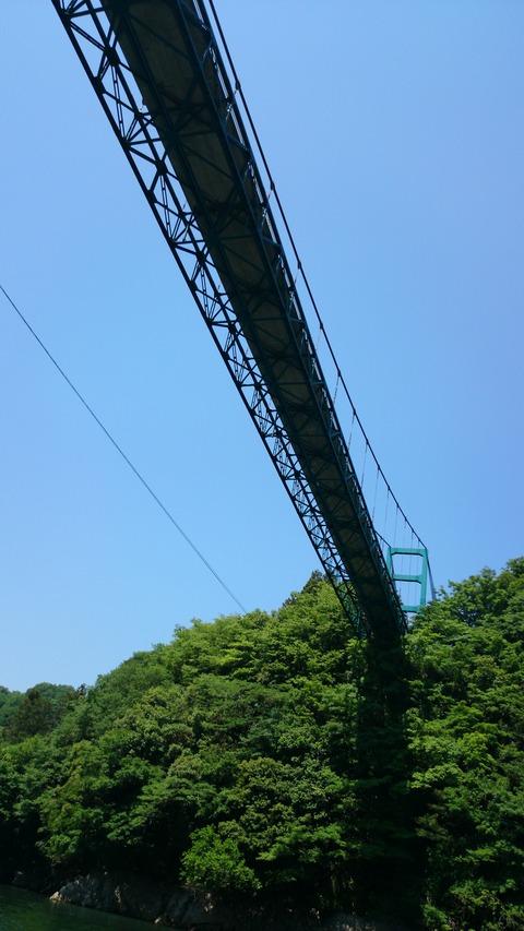 津久井湖橋を下から