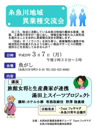 糸魚川地域異業種交流会チラシ