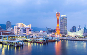 kobe-port-evening-view